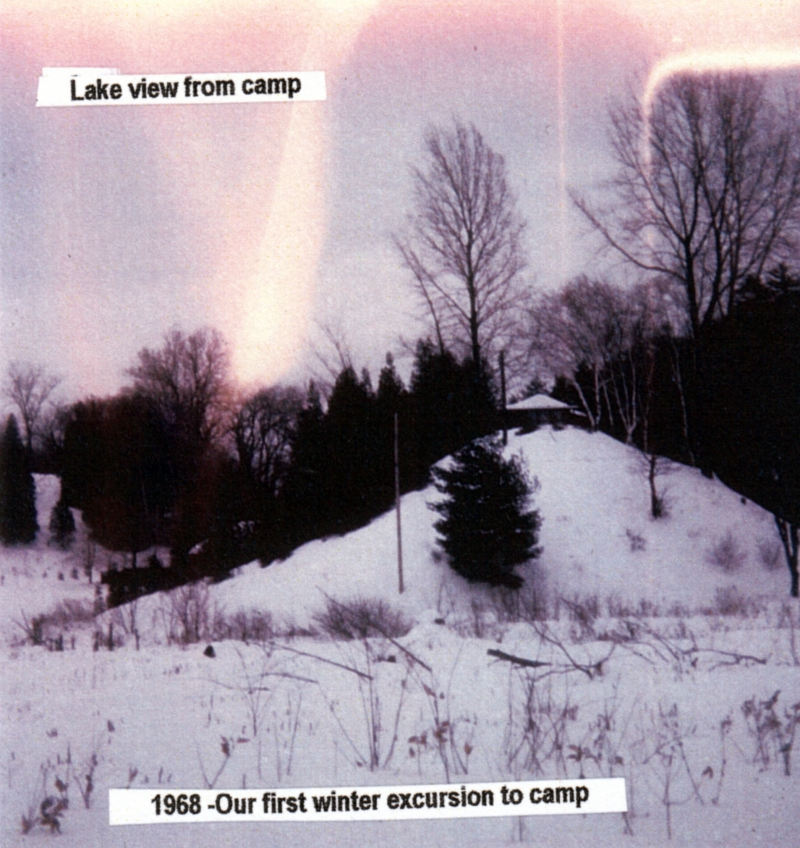 A photo of the Indian Mound, Winter 1968. Photo: UVM Landscape Change Program.